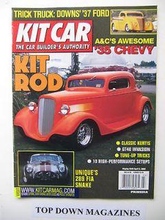 Kit Car Magazine April 2002 James Robinson, 289 FIA Cobra