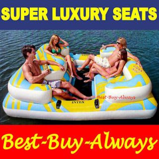 Newly listed Intex Oasis Island Inflatable Float Party Raft For The