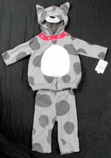 NWT CARTERS Infant Baby Boy Gray Puppy Dog Halloween Costume size 6 9