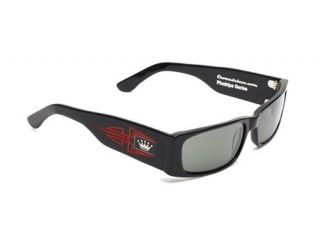 Crown Deluxe Sunglasses Sinner 13 Black w/ Red pinstripes New rat rod