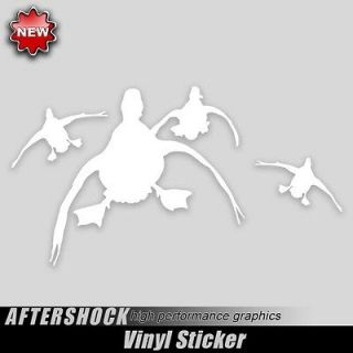 Duck hunting sticker locked in decal mallard