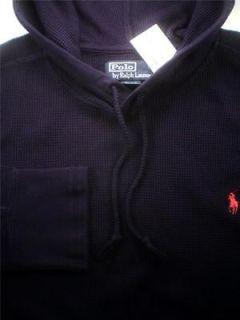 New Polo Ralph Lauren Fleece Mens Waffle Thermal Hoodie Sweatshirt