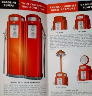 Original 1941 BENNETT Gas Pumps & ECO Air Meters BROCHURE