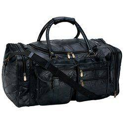 Embassy 25 Italian Stone Design Genuine Leather Duffle Bag