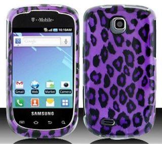 Samsung Galaxy Mini T499 SGH T499 PURPLE BLACK LEOPARD Cellphone Case