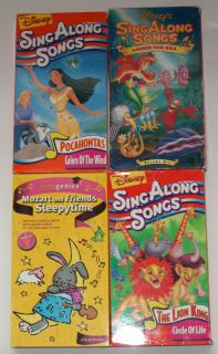 of 3 Disneys Sing A long Songs & Baby Genius Mozart VHS Tapes used