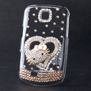 Hello Kitty Bling Diamond Hard Back Case For Samsung Galaxy Mini S5570