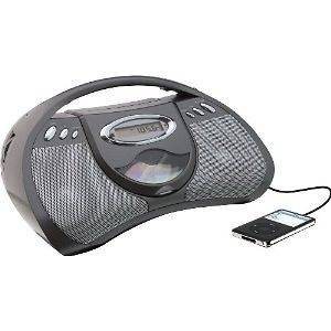 GPX PORTABLE CD PLAYER AC OR BATTERY POWER AM FM RADIO & LINE IN FOR