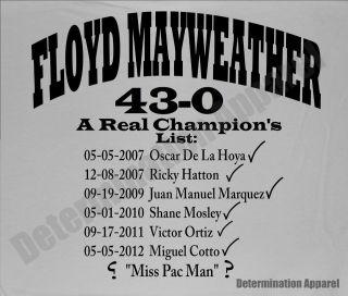 Shirt CHAMPIONS LIST Money Team HBO 24/7 Boxing Pacquiao W