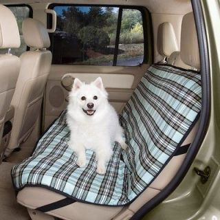 Guardian Gear Plaid Pet Dog Auto/Car Seat Cover BLUE