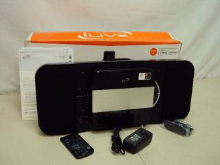 iLive IHP310B Home Music System with CD Player and Ipod Iphone Docking