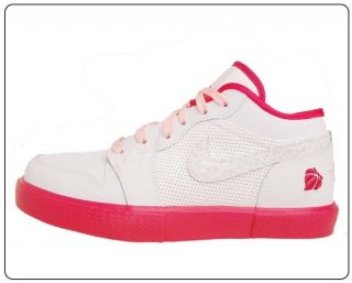 Nike Girls Air Jordan Retro V.1 GS White Storm Pink Valentines Day