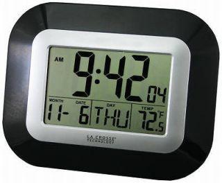 La Crosse Tech Digital Atomic Wall Clock w Indoor Temp
