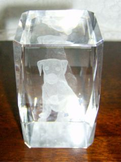 Labrador Retriever Dog 3D Crystal Laser Glass Cube