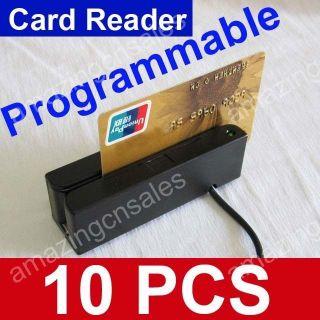 Lot of 10 PCS USB Magnetic Credit Card Reader 3 Track Stripe Swiper