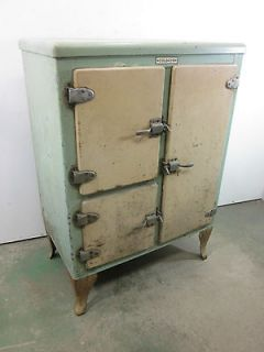 Vintage Coldayr Galvanized Metal Refrigerator Ice Box for