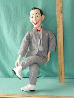 VINTAGE 1987 PEE WEE HERMAN PULL STRING talking DOLL with moving limbs