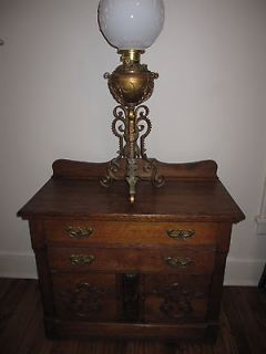 Victorian Tiger Oak Dry Sink Cabinet, Nightstand, etc.