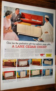 1955 LANE CEDAR HOPE CHEST AD~ 3102~2601~3086​~3008~3127~308​5~C