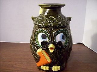 vintage owl cookie jar in Collectibles