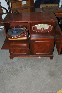 Antique Zenith Console Tube Radio & Cobra Matic Record Phonograph