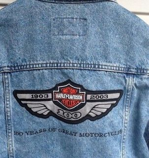 Harley Davidson 100th Anniversary Denim Jacket Medium