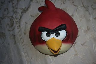 NEW Men Women Adult ANGRY BIRDS Red Bird MASK Costume Accessory Dress