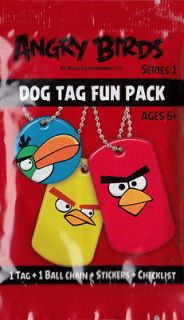 ANGRY BIRDS DOG TAG FUN 4 PACKS WITH STICKERS + NEW SERIES 1   5 DAYS