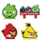 4pc) Angry Birds Birthday Candles/Cake Toppers Set Birthday Party
