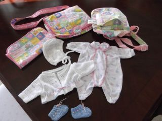 Lot Zapf Creation BABY BORN Carrier Diaper Bag Clothes