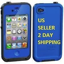 BLUE New Lifeproof Apple iPhone 4 4S Waterproof Case Life Proof