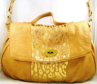 Marc Ecko Red Mohawk Handbag, Tan Leather Shoulder Bag *Collections