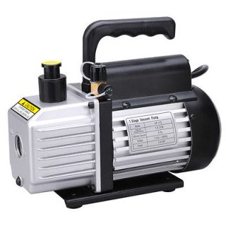 Single Stage Rotary Vane Vacuum Pump 1/4HP Refrigerant HVAC R134a