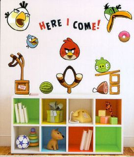 ANGRY BIRDS wall stickers over 150 decals roomscapes room decor