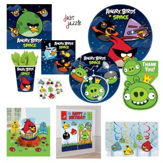 Angry Birds SPACE Birthday Party Supplies Plates Decorations You Pick