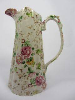 LORD NELSON WARE CHINTZ EDWARDIAN JUG 4.5 ROSE DESIGN