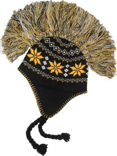 Aviator Mohawk Winter Ski Beanie Warm Knit Hat NFL Pittsburgh Steelers