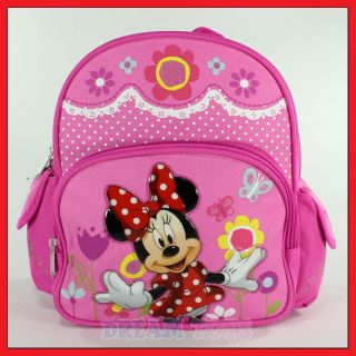 Disney Minnie Mouse Flowers 10 Mini Backpack Girls Book Bag Toddler