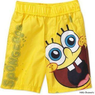 NICKELODEON Spongebob Squarepants Beach Shorts Yellow NEW