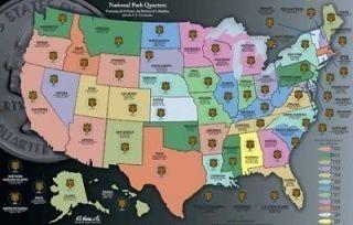 High Quality America the Beautiful National Park Quarter Map Folder