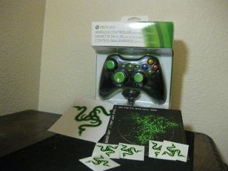 Xbox 360 Modded Controller with Play and Charge Kit. Razer Bundle.
