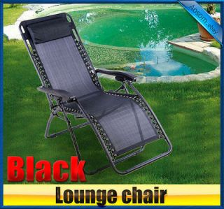 New Zero Gravity Lounge chair folding recliner garden Patio Pool Chair