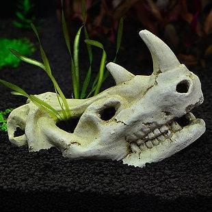 Aquarium decoration fish tank ornament air pump bubbler for Fish tank skull decoration