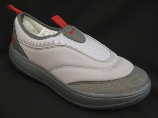 MENS GREY NIKE AQUA FLEX SOCK WATER SHOES SLIP ON SIZE UK 8.5  43