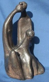 VINTAGE AUSTIN PROD 1970 SIGNED SCULPTURE ~ WOMAN, MAN & CHILD