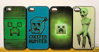 MINECRAFT CREEPER SANDBOX APPLE IPHONE 4/4S PHONE HARD CASE COVER