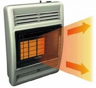 New Comfort Glow Vent Free Natural Gas Space Wall Heater Blower 18,000