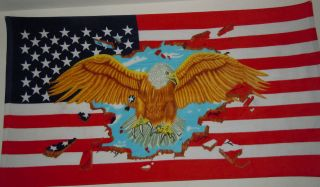 Beach Towels Eagle USA Flag design 4.5 feet length with 2.5 feet width