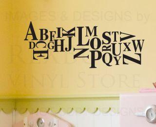 Wall Decal Sticker Quote Vinyl Art Removable ABCs Alphabet Nursery