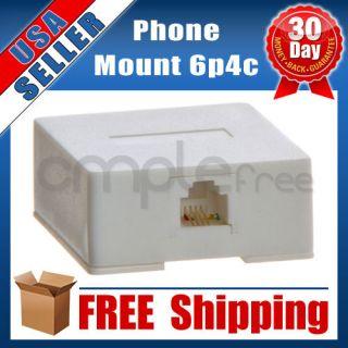 Single Phone Telephone Surface Mount Box 1 Port Modular RJ11 Wall Jack